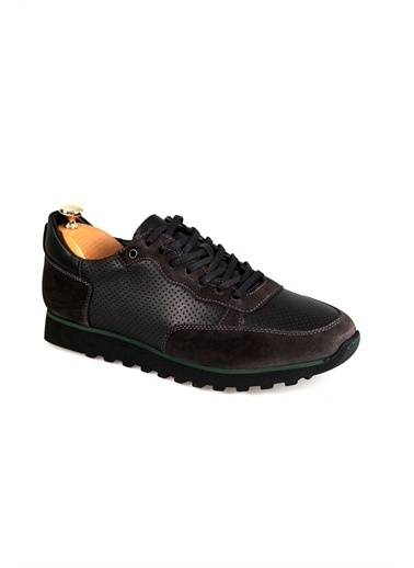 Tripy Hakiki Deri Sneakers Füme